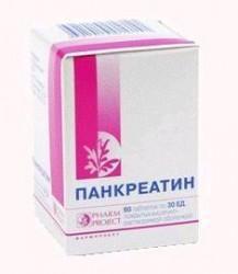 Панкреатин, табл. п/о кишечнораств. 30 ЕД №60